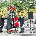 Mrs. Donna Britt, Mayor Kip Holden, Miss Louisiana Candice Marie Bennatt, and Captain Brett Meredith kicking off the 2014 Angel Tree Program by picking the very first Angels of the season.