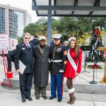 Captain Brett Meredith, Mayor Kip Holden, Staff Sgt. Marco Garcia, Miss Louisiana Candice Marie Bennatt.