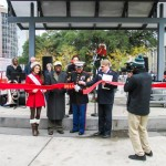 The cutting of the ribbon to kick-off the 2014 Christmas Season for The Salvation Army. Miss Louisiana Candice Marie Bennatt, Mayor Kip Holden, Staff Sgt. Marco Garcia, Captain Brett Meredith.