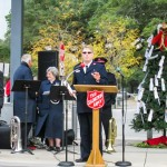 Captain Brett Meredith saying a few words about The Salvation Army's Angel Tree Program.