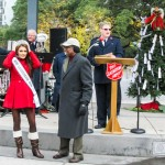 Miss Louisiana Candice Marie Bennatt, Mayor Kip Holden, and Captain Brett Meredtih.