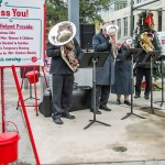 Salvation Army Band playing Christmas carols at Galvez Plaza.