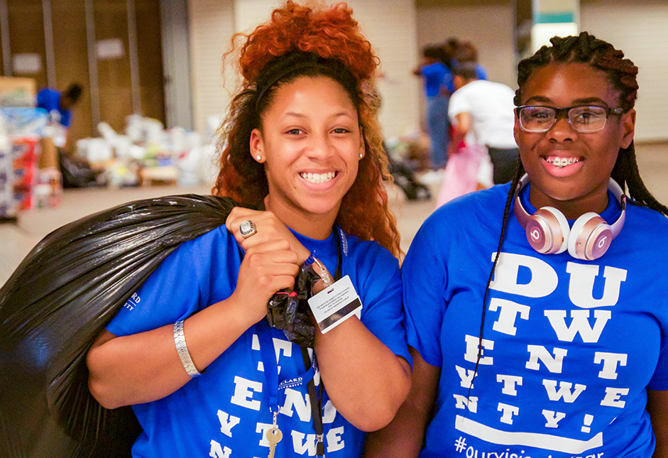 dillard university student volunteers louisiana flood
