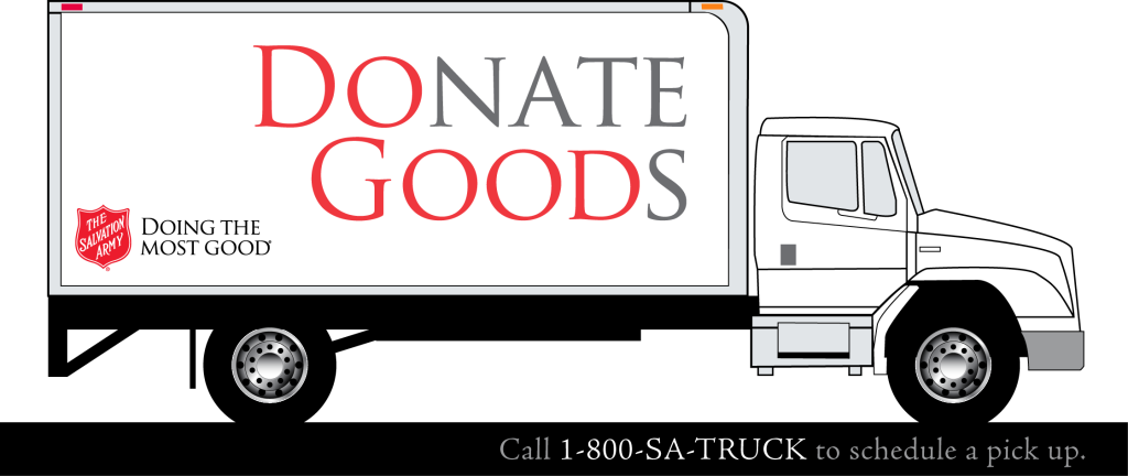 Salvation Army Donate Goods Truck