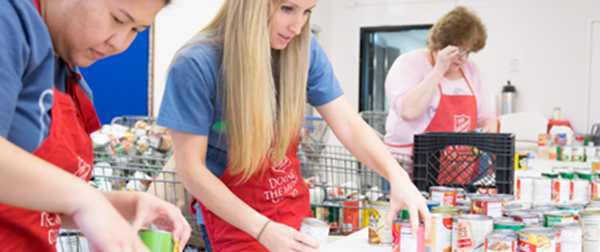 salvation army social services food pantry volunteer