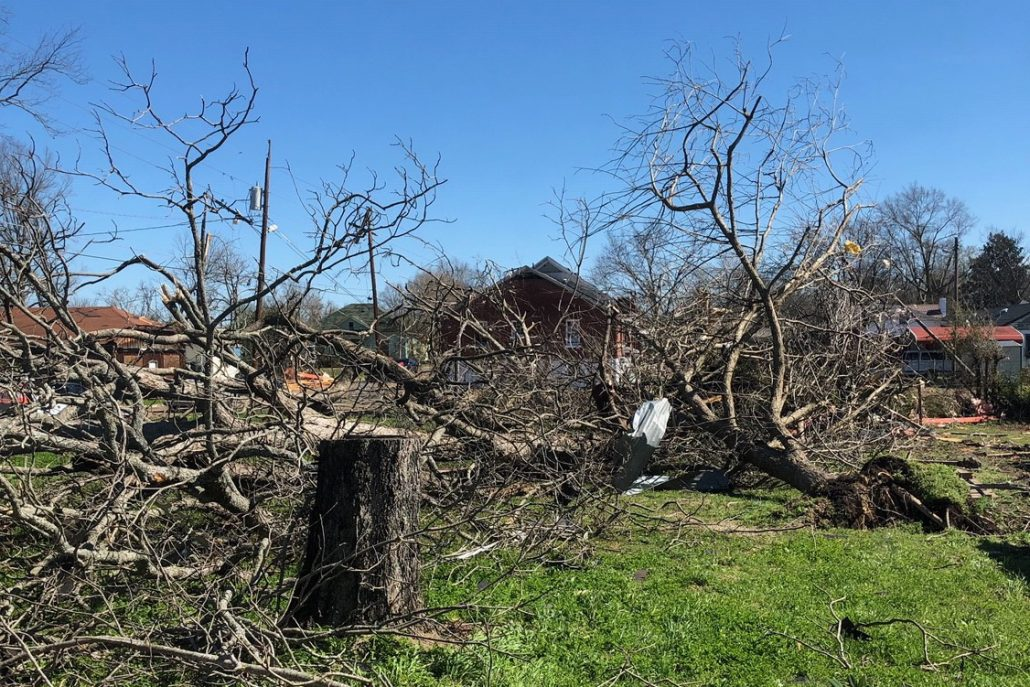 Columbus, MS tornado damage
